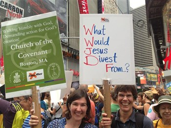 Church of the Covenant at the People's Climate March